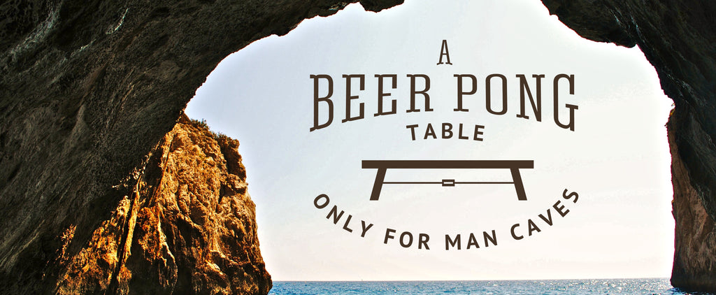 This Beer Pong Table is for Serious Mancaves Only!