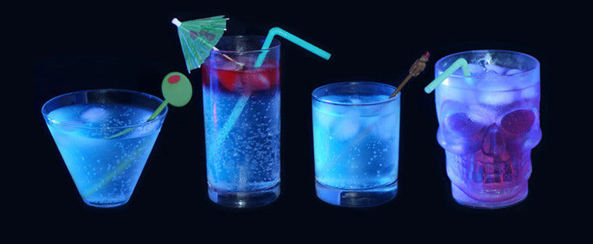 glowing drinks for black light party