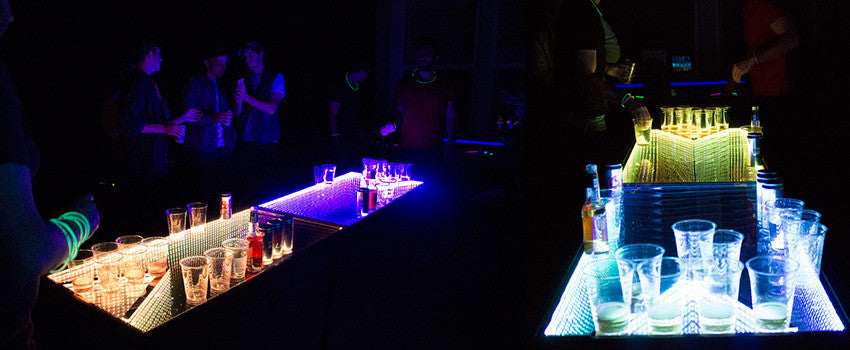 infinity beer pong table glow party