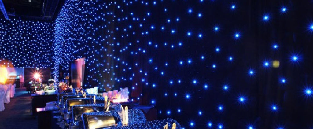 Led Star Drape