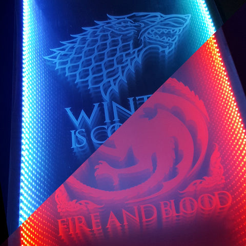 Game Of Thrones Infinity L.E.D Beer Pong Table