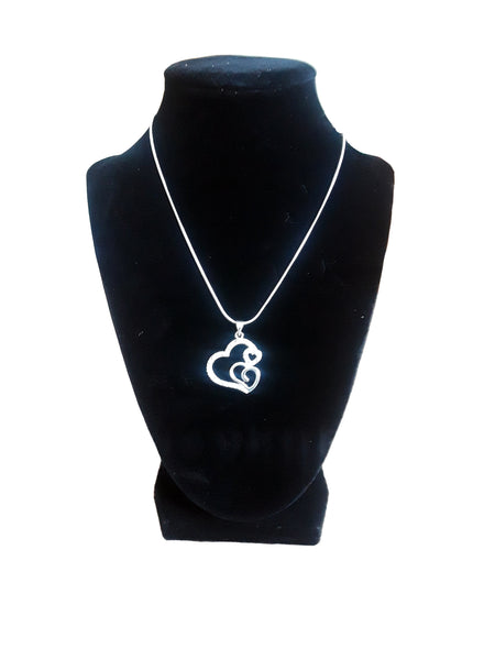 Double Heart Necklace - Envee Styles Boutique