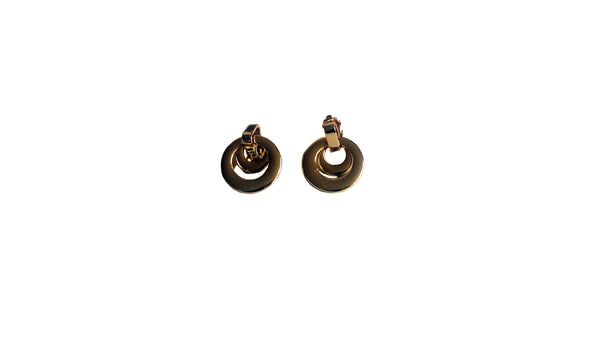 Long Gold Circular Earrings - Envee Styles Boutique