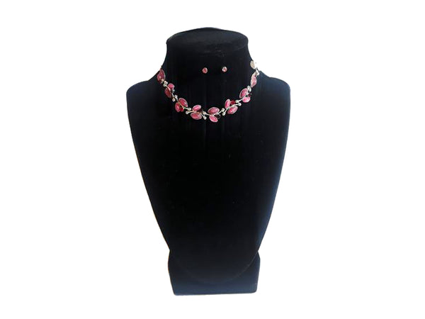 Pink & Purple Necklace & Earrings - Envee Styles Boutique