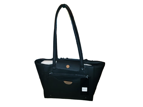 Black Double Zipper Handbag - Envee Styles Boutique
