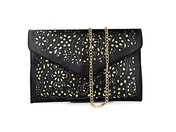 Black Cutout Shoulder Messenger Bag - Envee Styles Boutique