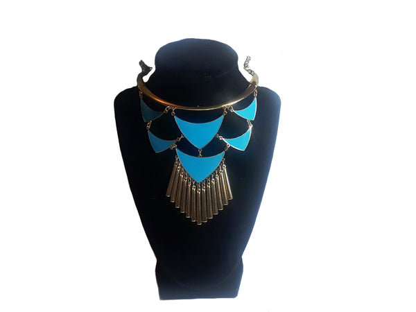 Blue Arrow Necklace & Earrings - Envee Styles Boutique