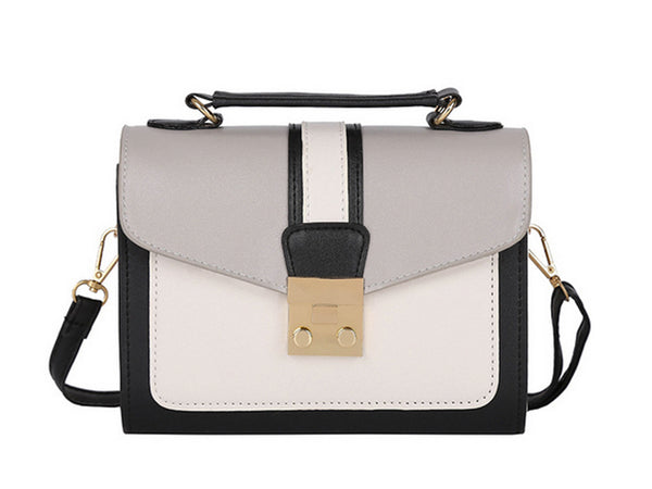 Grey and White Messenger Envelope Clutch Bag - Envee Styles Boutique