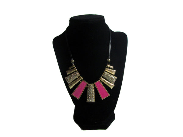 Gold and Pink Necklace - Envee Styles Boutique