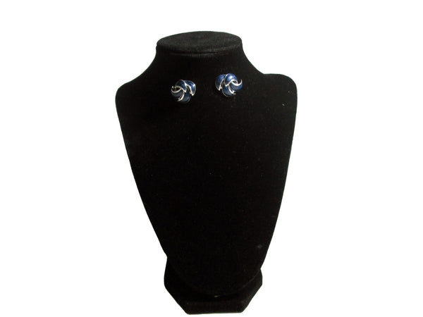Dark Blue Spike like Earrings - Envee Styles Boutique