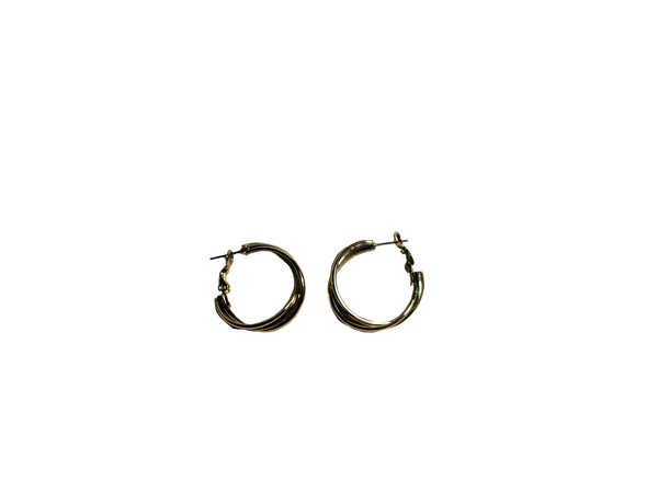 Gold Circular Spiral Earrings - Envee Styles Boutique
