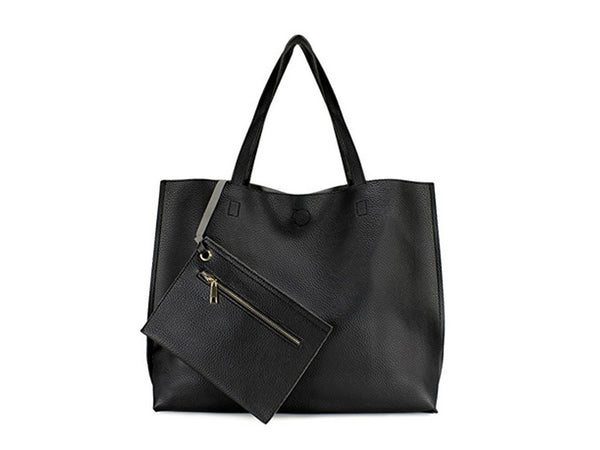 Stylish Reversible Black and Grey Tote Bag - Envee Styles Boutique