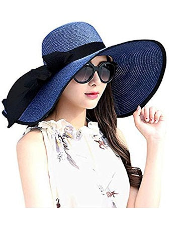 Dark Floppy Hat with black ribbon - Envee Styles Boutique