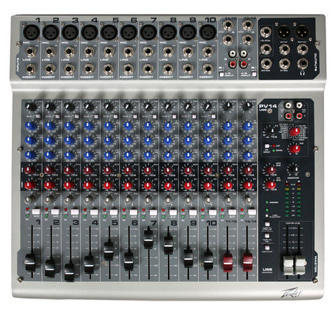 Peavey PV 14 USB 14-Channel Analog Mixer with FX