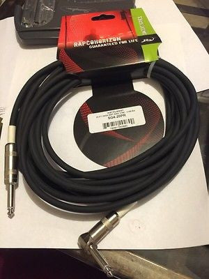 RAPCOHORIZON SG4-20PR 20 Gauge 1/4 M- 1/4 M Right Angle - Black Instrument Cable