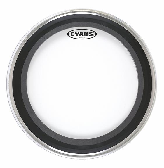 "Evans 2-Ply Clear EMAD 22"" Bass Drum Batter Head"