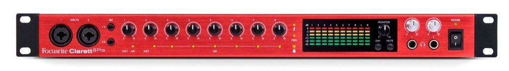 Focusrite Clarett 8Pre  18-in/20-out  Thunderbolt audio Interface