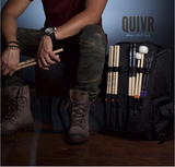 Gruv Gear Quivr - Drum Stick Bag w/FREE Pair of Vater 2nd's Drum Sticks(PRE-ORDERS expected to start shipping end of May 2017)