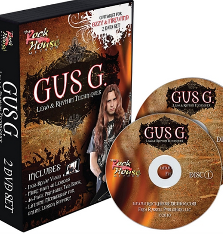 Rock House Gus G. Lead & Rhythm Techniques 2 DVD Set