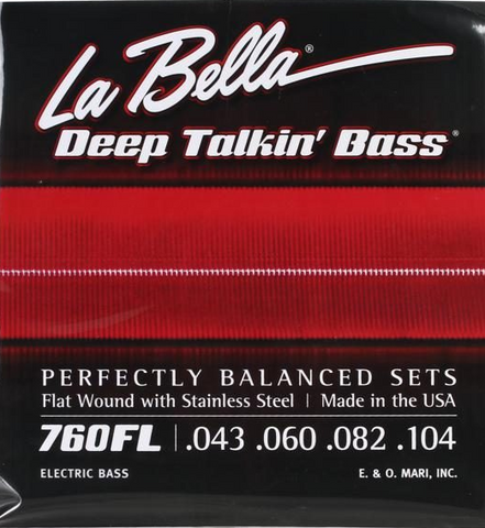 LaBella 760FL Deep Talkin' Bass Flatwound Bass Strings - Light - 4 STR (0.043-0.104)