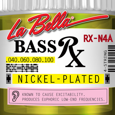 LaBella RX Series Nickel-Plated Electric Bass Guitar Strings - 4 String Set