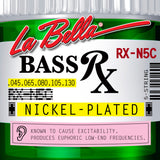LaBella RX Series Nickel-Plated Electric Bass Guitar Strings - 5 String Set