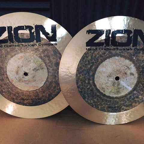 ZION Handcrafted Turkish Cymbals - 14 inch Epic Dark Hi-Hats