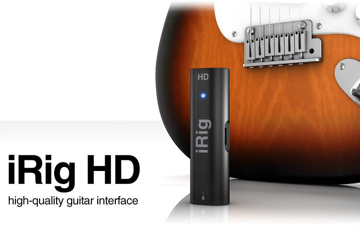 iRig HD high quality guitar interface - High-def jams on your iPhone, iPad or Mac/PC