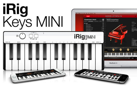 iRig Keys Mini 25 Keys Midi Controller for iPhone, iPad or Mac/PC