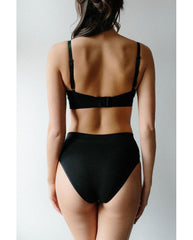 2-Pack Organic Cotton Hipster Bikini Undies - Black *Only XS left! FINAL SALE*