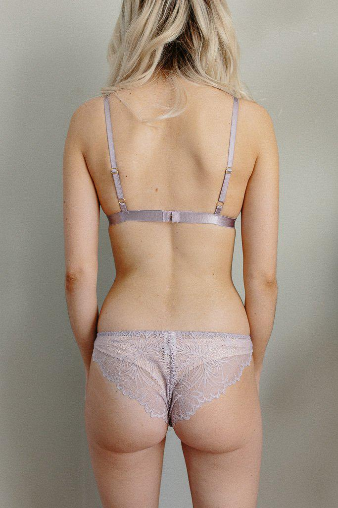 Purple Lima Recycled Lace Triangle Bralette *Only L+ left! FINAL SALE*