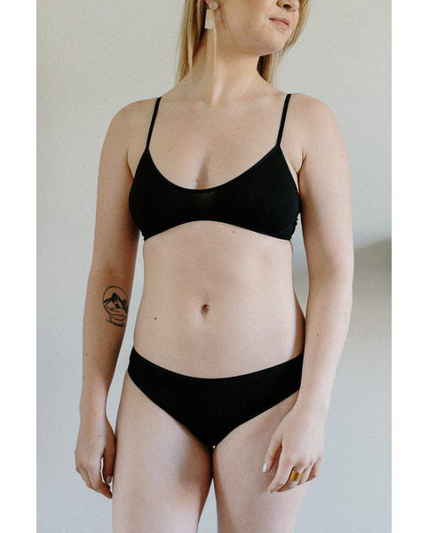 Organic Cotton Catherine Bralette - Black