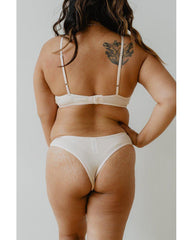 Organic Cotton Basic Rosy Thong - Beige *FINAL SALE ITEM*
