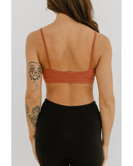 Organic Cotton Light Sports / Yoga / Lounge Bra - Terra Cotta *Only XS left! FINAL SALE*