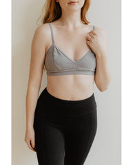Organic Cotton Light Sports / Yoga / Lounge Bra - Dolphin Grey *Only XS Left! FINAL SALE*