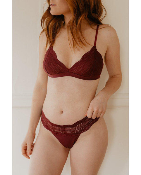 Dolce Bralette - Mulberry Purple