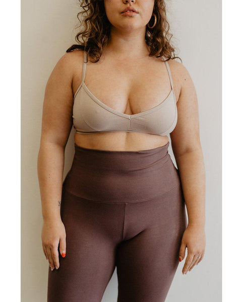 Organic Cotton Light Sports / Yoga / Lounge Bra - Lilac Purple *Only XS + S left! FINAL SALE*