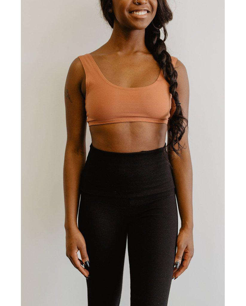 Organic Cotton Tank Bralette - Rust *Only XS, S + L left!*