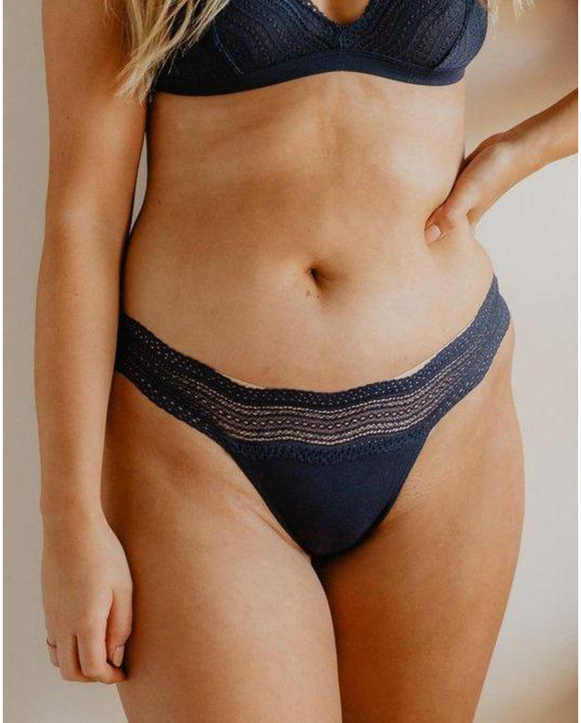 Dolce Thong - Navy Blue