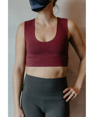 Organic Cotton Reversible Bralette - Sangria Red *Only XS + S left! FINAL SALE*