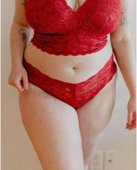 Curvy Hottie Boyshort - Ruby Red *FINAL SALE*
