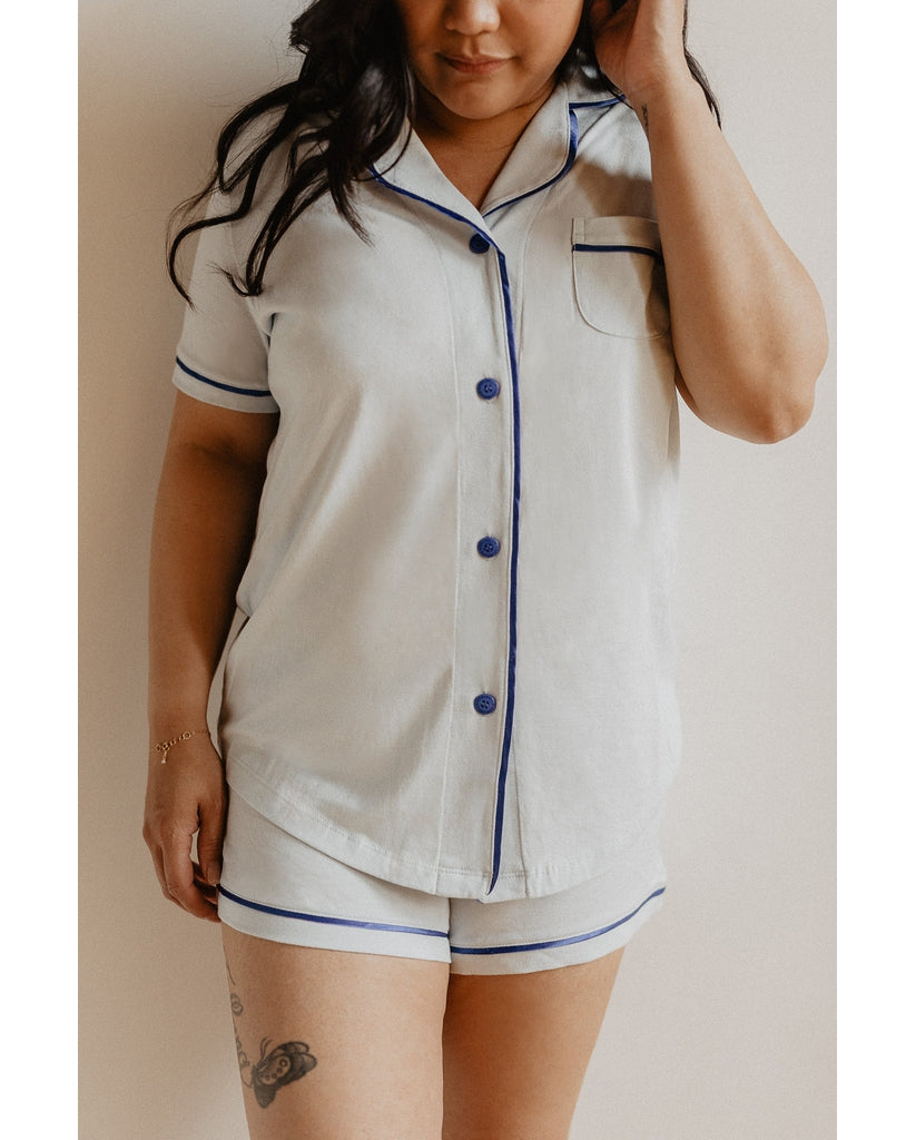 Bella Shorts PJ Set - Blue Venezia