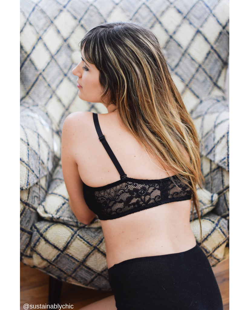 Alexander Black Lace Nursing / Transition Bralette