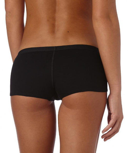 Organic Cotton Everyday Cozy Boyshort - Black 2 Pack