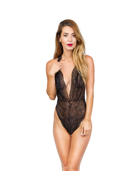 Lucette Black Lace Bodysuit - *Only 1M LEFT!!*