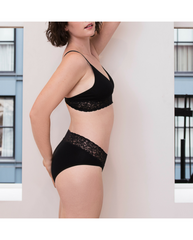 Carmine High-Waist Bamboo Undies - Black *RESTOCK COMING IN JANUARY!*