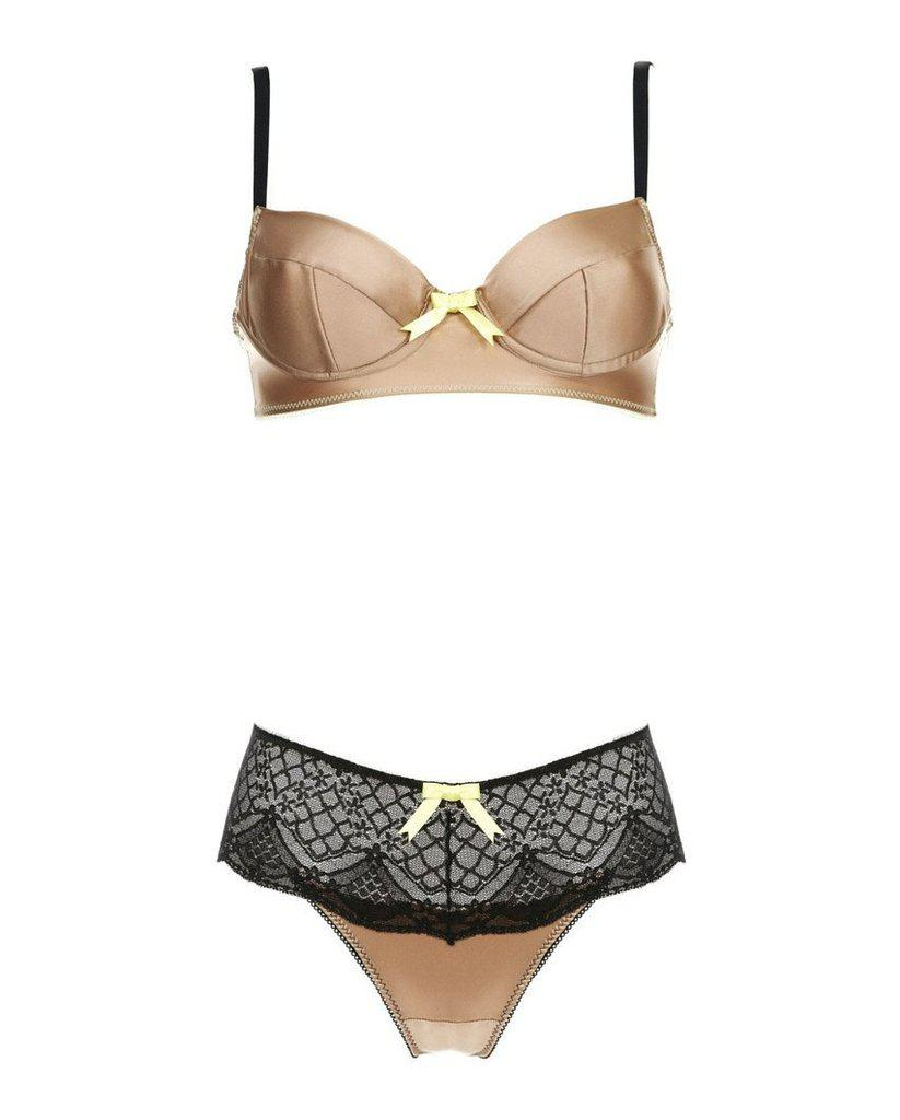Coco Caramel Bronze Silk Bra *Only 32C, 34C, 32D, 34D left!*