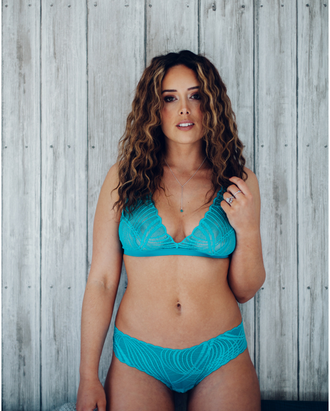 Blue Minoa Lace Soft Bralette *Extended Sizing Available!*