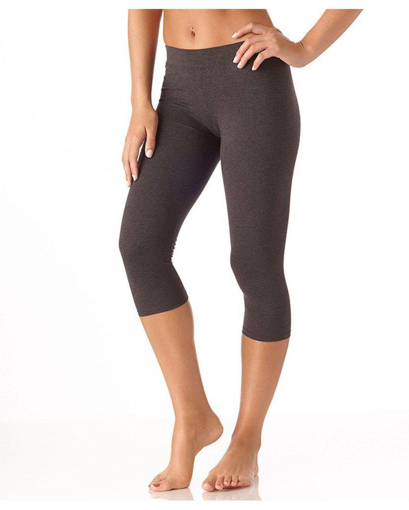 Organic Cotton Everyday Cropped Leggings - Heather Grey