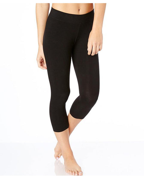 Organic Cotton Everyday Cropped Leggings - Black